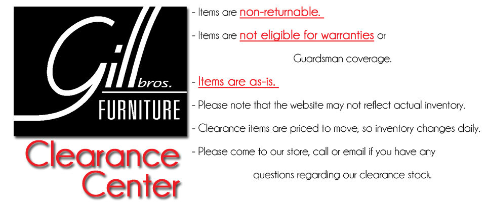 Clearance Center. Items Are Non Returnable. Items Are Not Eligible For  Warranties Or